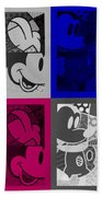Mickey In Quad Colors Beach Towel
