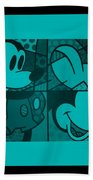 Mickey In Turquois Beach Towel