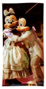 Micky And Minnie Mouse Skate Beach Towel
