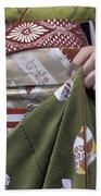 Midsection Of Apprentice Geisha - Maiko Beach Towel