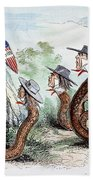Midwest Copperheads, 1863 Beach Towel