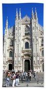 Milan Duomo Cathedral Beach Sheet