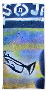 Miles Of Jazz Beach Towel