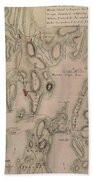 Military Plan Of The North Part Of Rhode Island Beach Towel