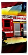 Milwaukee Truck 6 Beach Towel