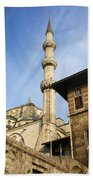 Minaret Of The Blue Mosque Beach Towel