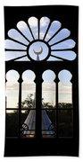 Minaret Through Window Beach Towel