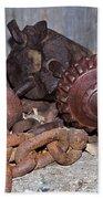 Mining Drill Bit Beach Towel
