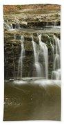 Minneopa Upper Falls 18 Beach Towel