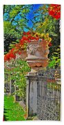 Mirabell Gardens In Salzburg Hdr Beach Towel by Mary Machare