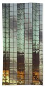 Mirrored Building Beach Towel