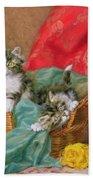 Mischievous Kittens Beach Sheet