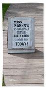 Miss Karen's Beach Towel