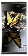 Missing You - Butterfly Beach Towel
