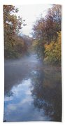 Mist Along The Wissahickon Beach Towel