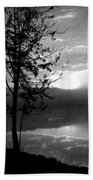 Misty Reflections Bw Beach Towel