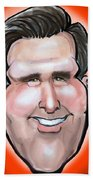 Mitt Romney Caricature Beach Towel