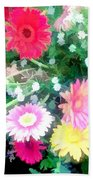 Mixed Asters Beach Towel