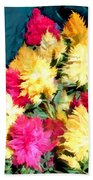 Mixed Celosias In Fall Colors Beach Towel