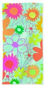 Mixed Flowers Beach Towel by Louisa Knight