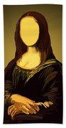 Mona Lisa Beach Towel
