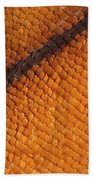 Monarch Butterfly Wing Scales Beach Towel