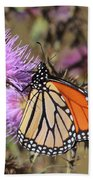 Monarch On Thistle II Beach Towel