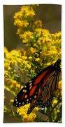 Monarchs On Yellow Beach Towel