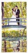 Monet Wedding Beach Towel