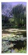 Monet's Water Garden Beach Towel