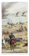 Monitor Vs Merrimack, 1862 Beach Towel