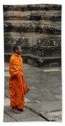Monk At Ankor Wat Beach Towel