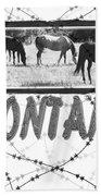 Montana Horse Design Beach Towel