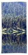 Montana Lake Reflection Beach Towel