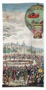 Montgolfier Balloon Le Flesselles Beach Towel