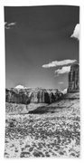 Monument Valley In Monochrome  Beach Towel