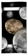 Moon From The Country Beach Towel