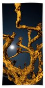 Moon Light And Tree Beach Towel