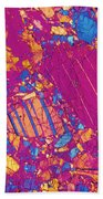 Moon Rock, Transmitted Light Micrograph Beach Towel