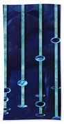 Moonlight Blue Beach Towel