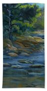 Moonrise On The River Beach Towel