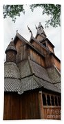 Moorhead Stave Church 8 Beach Towel