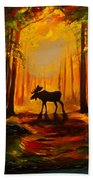 Moose Sunset Beach Towel