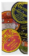More Old Record Labels  Beach Towel