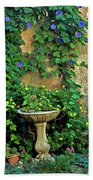 Morning Glory Garden In Provence Beach Towel