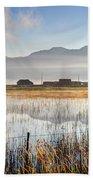 Morning Mists Of Cutler Marsh - Utah Beach Towel