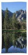Morning Reflection At Yosemite Beach Towel