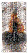 Mosaic Of Chest X-ray Beach Towel