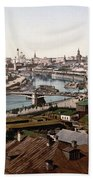 Moscow Russia On The Moskva River - Ca 1900 Beach Towel