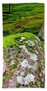 Mossy Rock Garden Beach Towel
